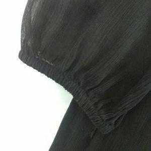 LOFT Tops - Loft Sheer Pleated Blouse
